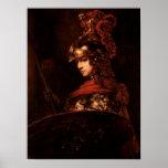 Pallas Athena o, figura acorazada, 1664-65 Poster