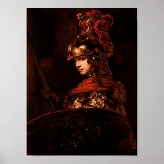 Pallas Athena o figura acorazada 1664-65 Poster