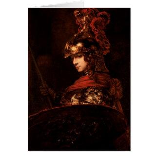 Pallas Athena o, figura acorazada, 1664-65 Tarjeta De Felicitación