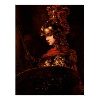 Pallas Athena o, figura acorazada, 1664-65 Tarjetas Postales