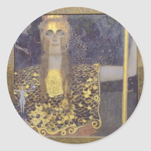 Pallas Athena Round Stickers