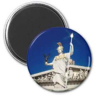 Pallas-Athene Fountain 2 Inch Round Magnet