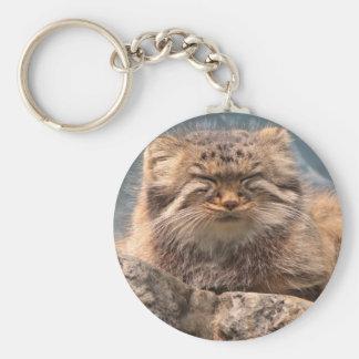 Pallas Cat Basic Round Button Keychain