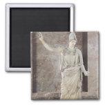 Pallas de Velletri, estatua de Athena con casco Imán Cuadrado
