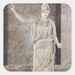 Pallas de Velletri, estatua de Athena con casco Pegatina Cuadrada