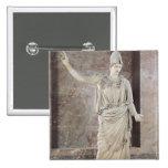Pallas de Velletri, estatua de Athena con casco Pin Cuadrado