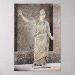 Pallas de Velletri, estatua de Athena con casco Póster