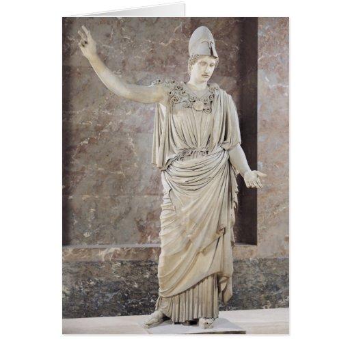Pallas de Velletri, estatua de Athena con casco Tarjetas
