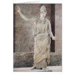 Pallas de Velletri, estatua de Athena con casco Tarjeta De Felicitación