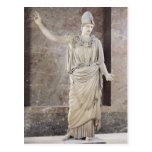 Pallas de Velletri, estatua de Athena con casco Tarjetas Postales