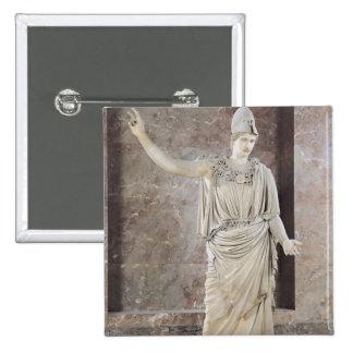 Pallas de Velletri, statue of helmeted Athena Pinback Button