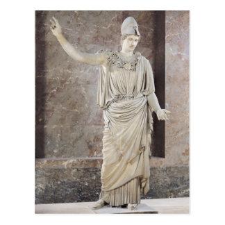 Pallas de Velletri, statue of helmeted Athena Postcard