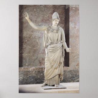Pallas de Velletri, statue of helmeted Athena Poster