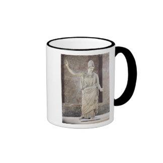 Pallas de Velletri, statue of helmeted Athena Ringer Mug