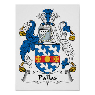 Pallas Family Crest Posters