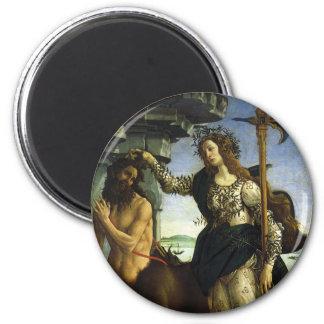 Pallas y el Centaur de Sandro Botticelli Imán Redondo 5 Cm