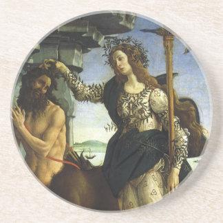 Pallas y el Centaur de Sandro Botticelli Posavasos Cerveza