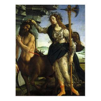 Pallas y el Centaur de Sandro Botticelli Postales