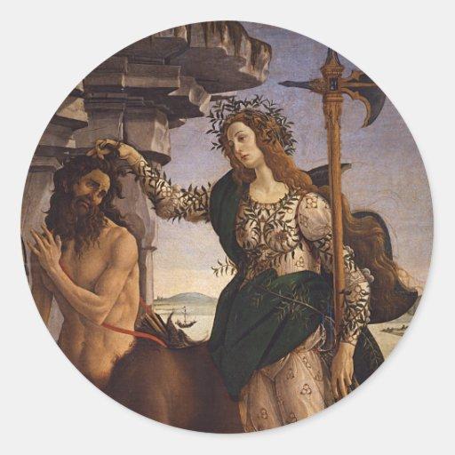 Pallas y el Centaur por Botticelli Pegatina