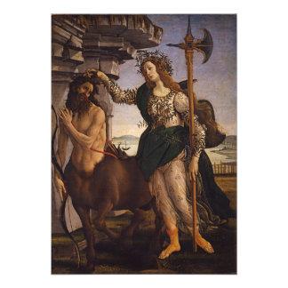Pallas y el Centaur por Botticelli Impresión Fotográfica