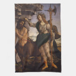 Pallas y el Centaur por Botticelli Toallas De Mano