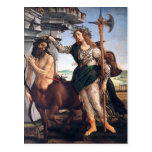 Pallas y el Centaur, Sandro Botticelli Postal