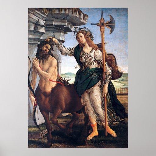 Pallas y el Centaur, Sandro Botticelli Póster