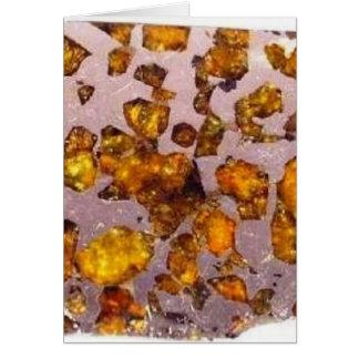 Pallasite de Brahin del meteorito - 2 Tarjeta De Felicitación