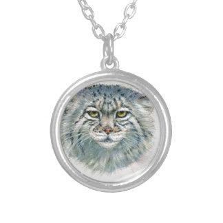 Pallas's Cat 862 Round Pendant Necklace