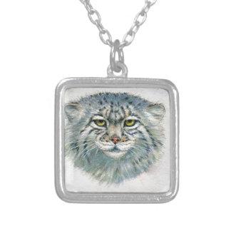 Pallas's Cat 862 Square Pendant Necklace
