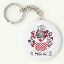 Pallavicini Family Crest Keychain