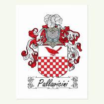 Pallavicini Family Crest Postcard