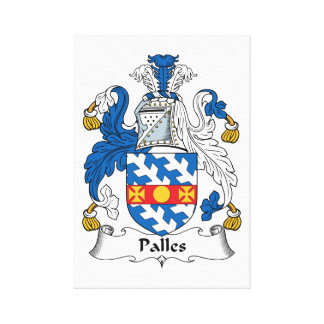 Palles Family Crest Gallery Wrapped Canvas