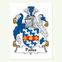 Palles Family Crest Postcard