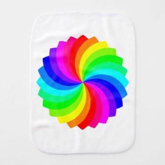 Pallette de giro colorido paños de bebé