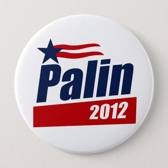 Pallin 2012 Poster blue Pinback Button