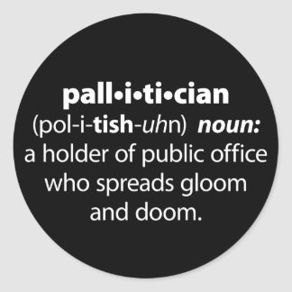 Pallitician Classic Round Sticker