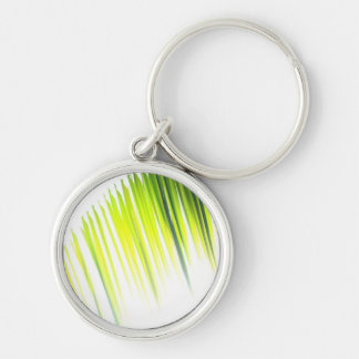 Palm Abstract (keychain) Silver-Colored Round Keychain