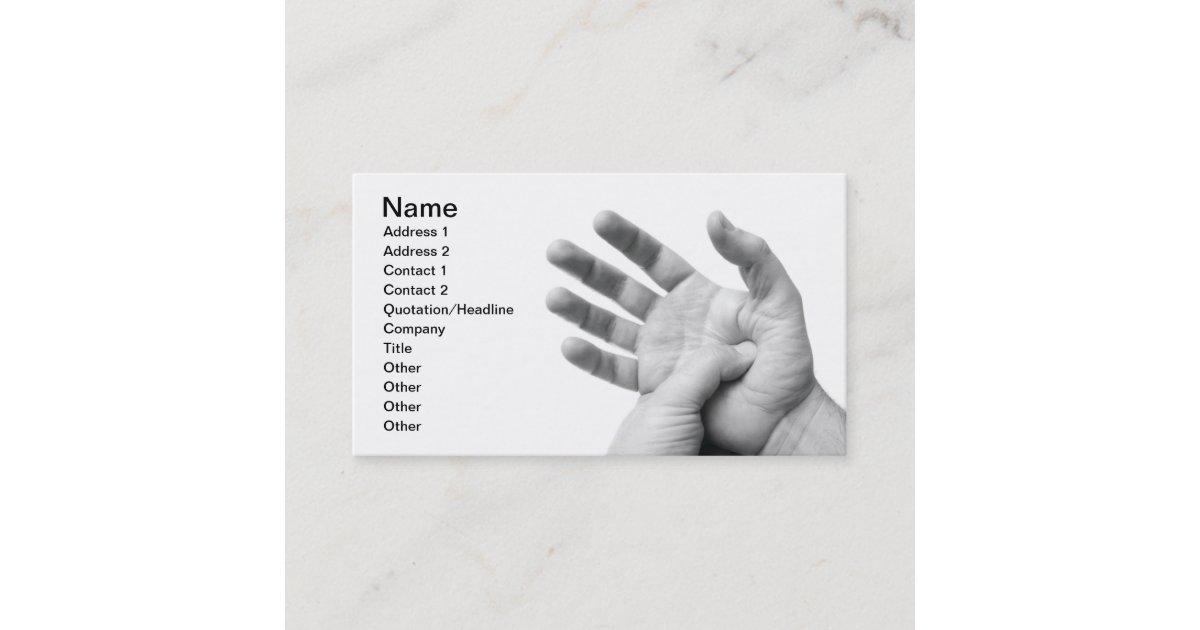 Palm acupressure business card | Zazzle.com