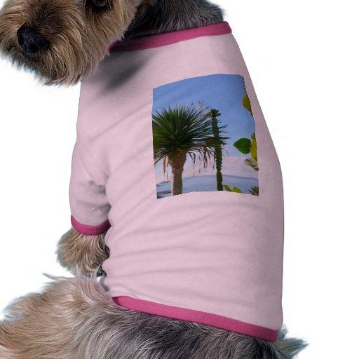 Palm And Cactus Pet Tee Shirt