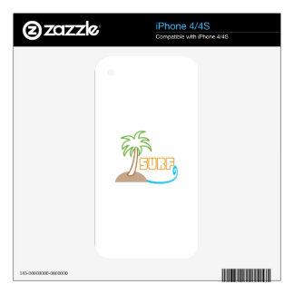 PALM AND SURF APPLIQUE SKIN FOR THE iPhone 4S