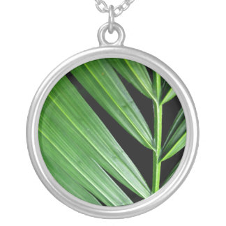 Palm at Night Round Pendant Necklace