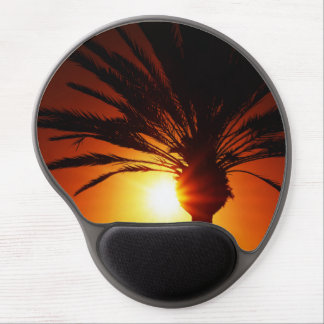 Palm at sunset gel mouse pad