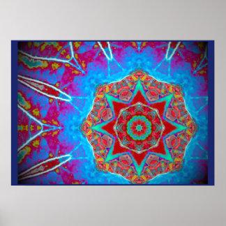 Palm Batik© Mandala, sizes opt. Poster