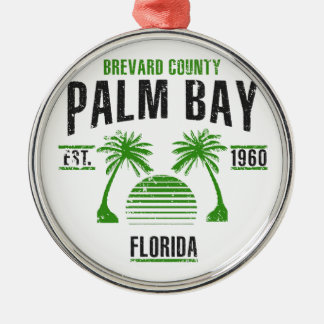 Palm Bay Metal Ornament