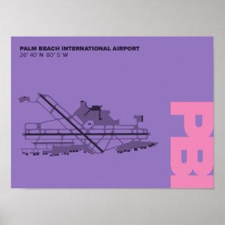Palm Beach Airport (PBI) Diagram Poster