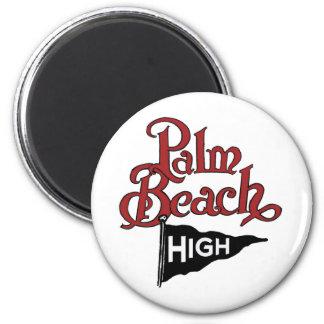Palm Beach alto #1 Imán Redondo 5 Cm
