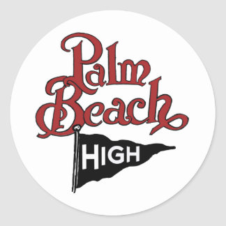 Palm Beach alto #1 Pegatina Redonda