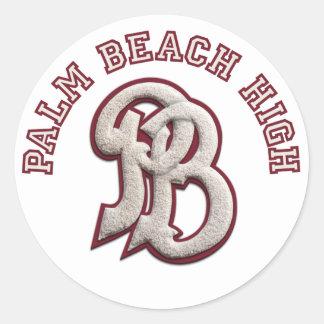 Palm Beach alto #2 Pegatina Redonda