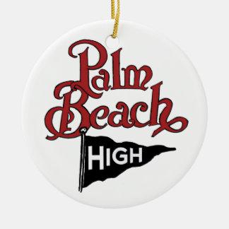 Palm Beach alto Adorno Redondo De Cerámica